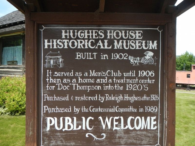 Hughes House Historical Museum Marker image. Click for full size.