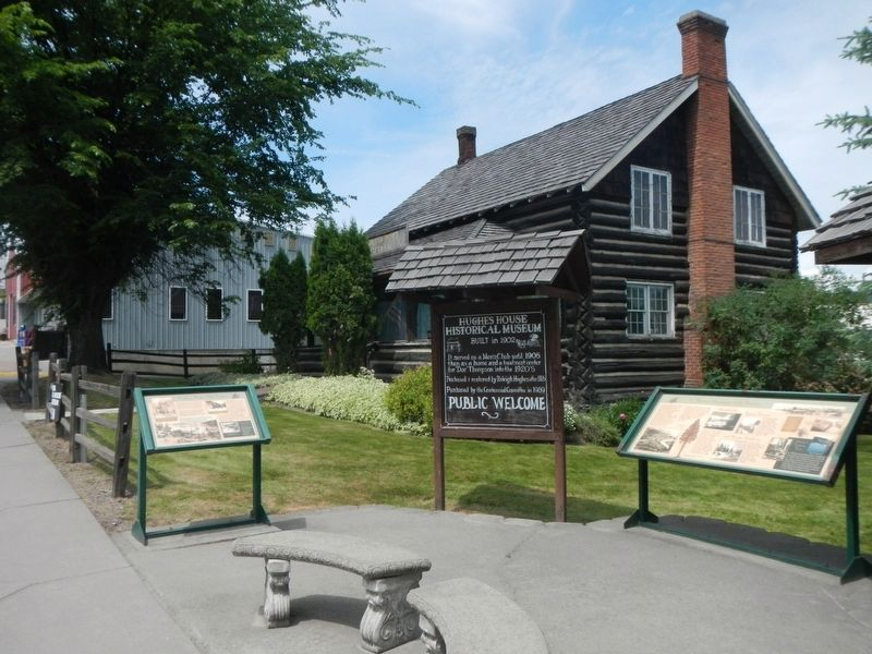 Hughes House Historical Museum and Marker image. Click for full size.