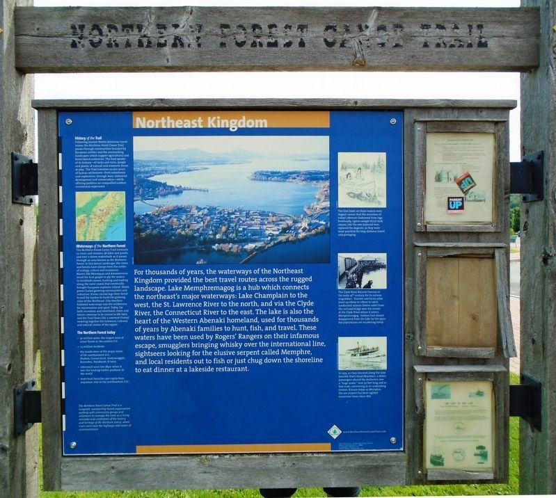 Northern Forest Canoe Trail Marker (front) image. Click for full size.