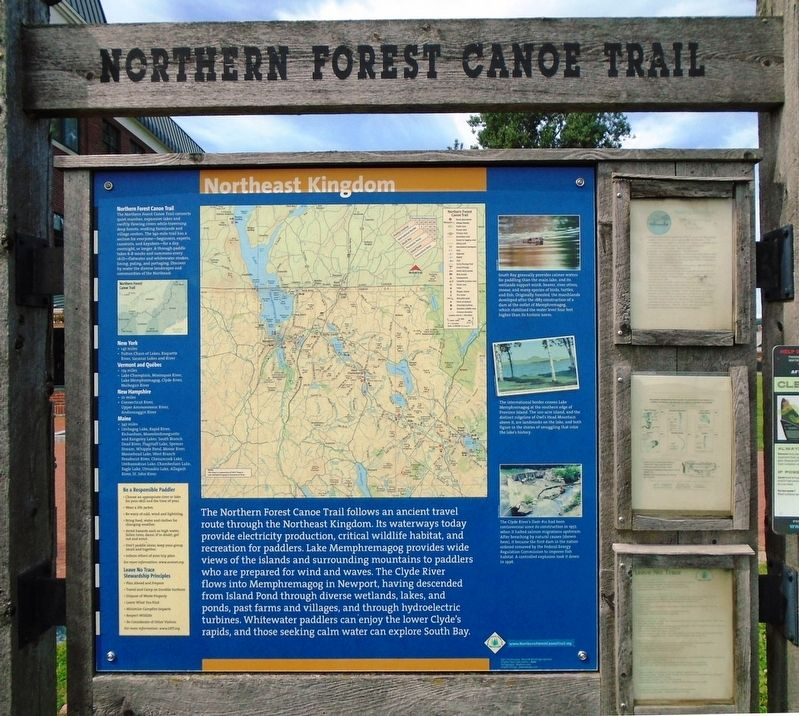 Northern Forest Canoe Trail Marker (back) image. Click for full size.