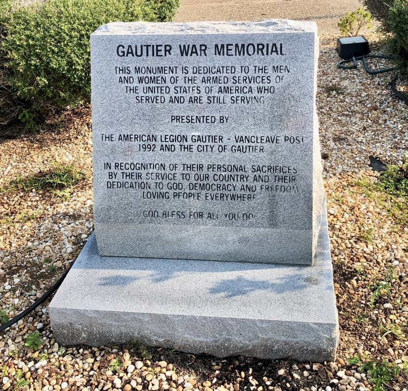 Gautier War Memorial image. Click for full size.