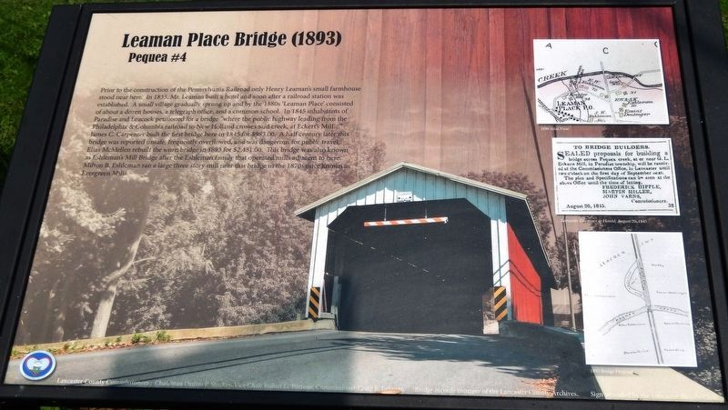 Leaman Place Bridge (1893) Marker image. Click for full size.