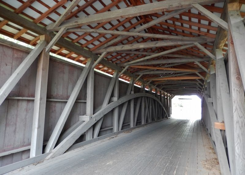 Leaman Place Bridge (<i>interior</i>) image. Click for full size.