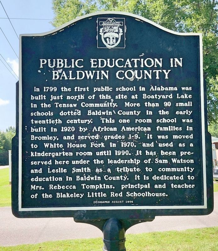 Public Education in Baldwin County Marker image. Click for full size.