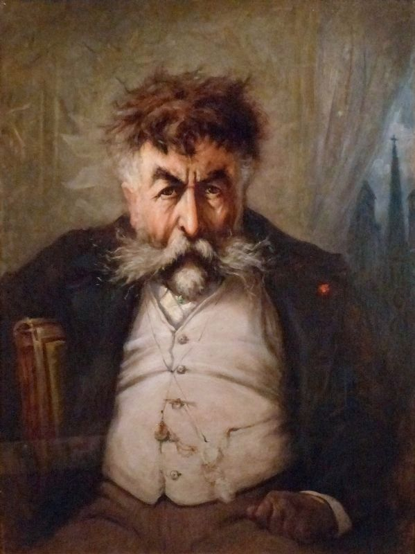 Thomas Nast<br>Self-Portrait, c. 1884 image. Click for full size.