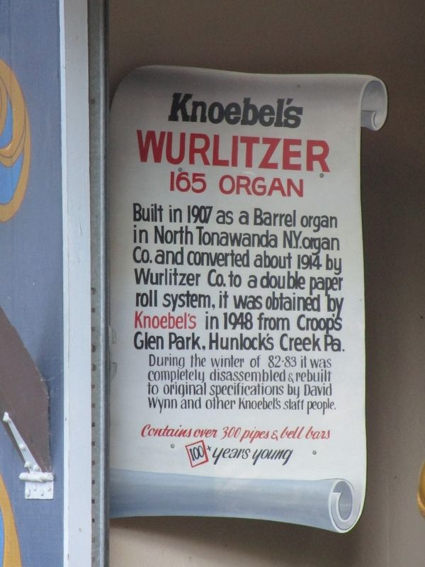 Knoebles Wurlitzer 165 Organ Marker image. Click for full size.