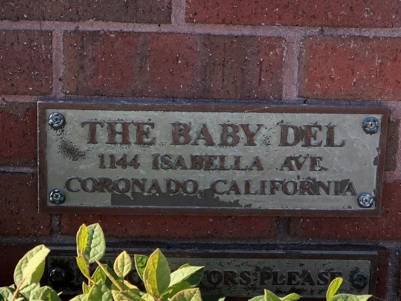"The House is known locally as the ""Baby Del"" due to similar architecture as the Hotel Del Coronado. image. Click for full size."