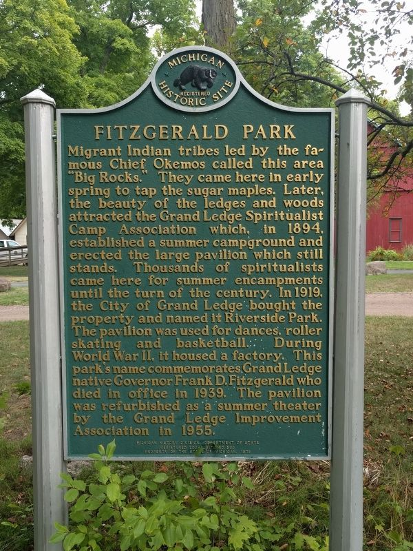 Fitzgerald Park Marker image. Click for full size.