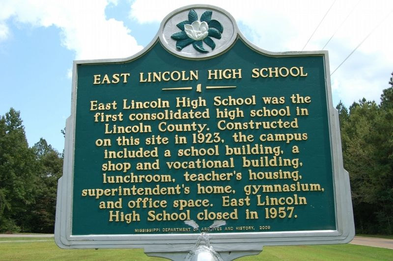 East Lincoln High School Marker image. Click for full size.