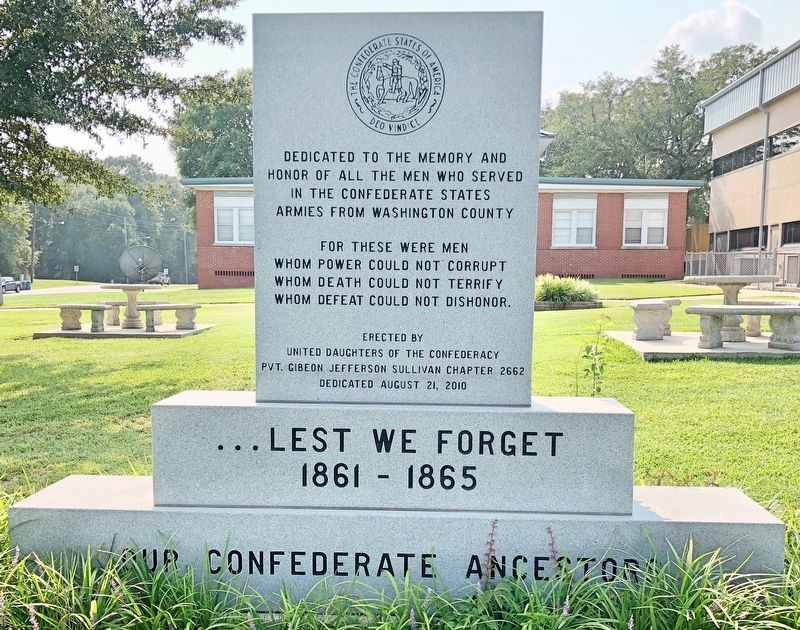 Washington County Confederate Memorial image. Click for full size.