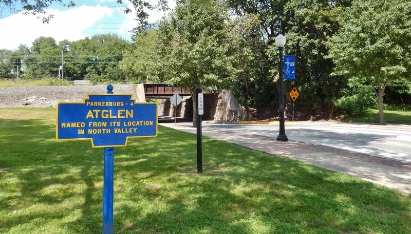 Atglen Marker (<i>wide view; looking north along Main Street</i>) image, Touch for more information