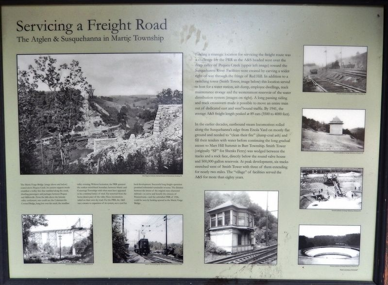 Servicing a Freight Road Marker image. Click for full size.