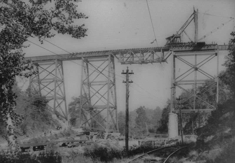 Marker detail: Martic Forge Bridge Construction image. Click for full size.