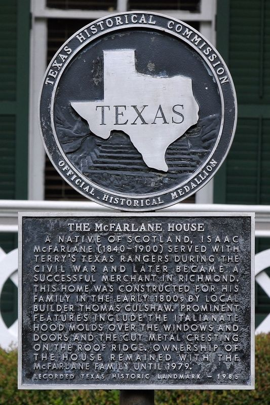The McFarlane House Marker image. Click for full size.