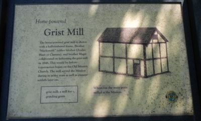 Grist Mill Marker image. Click for full size.