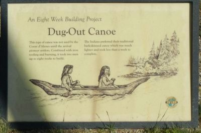 Dug-Out Canoe Marker image. Click for full size.