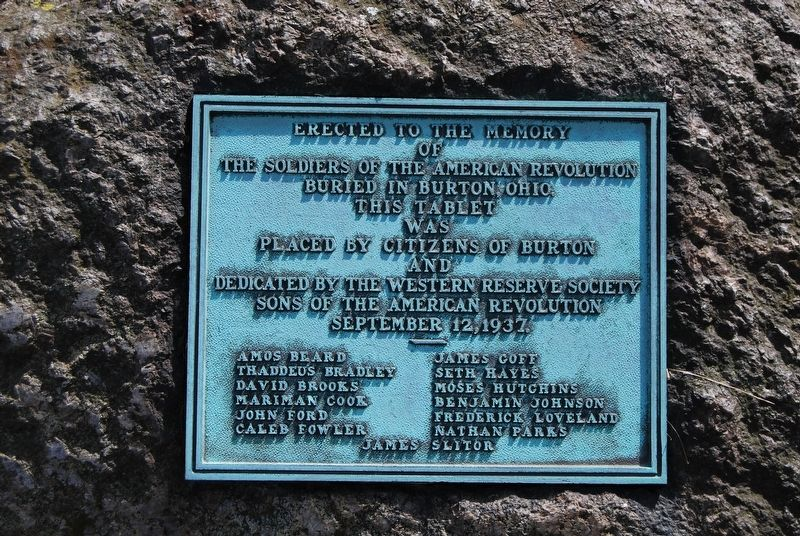Erected to the Memory of the Soldiers of the American Revolution Marker image. Click for full size.
