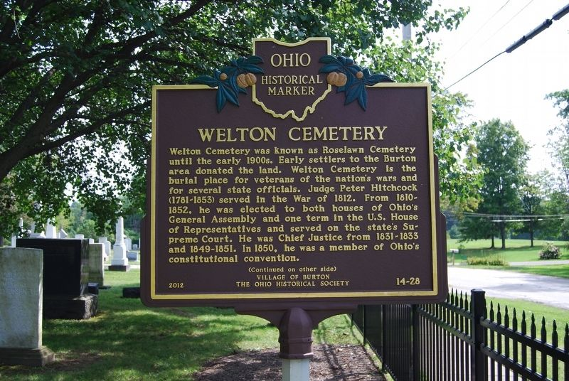 Welton Cemetery Marker image. Click for full size.