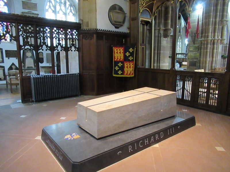 The Tomb of King Richard III in Leicester Cathedral image. Click for full size.