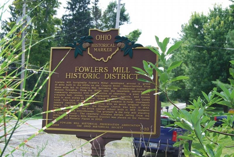Fowlers Mill Historic District Marker image. Click for full size.