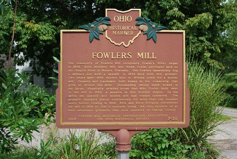 Fowlers Mill Marker image. Click for full size.