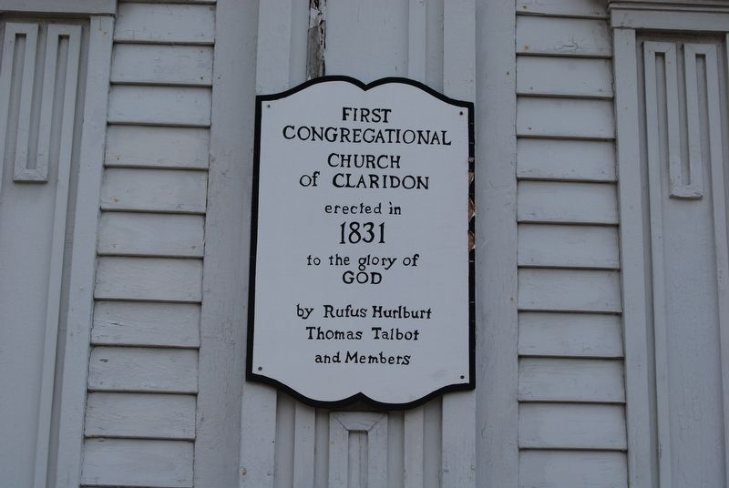 First Congregational Church of Claridon UCC Local Marker image. Click for full size.
