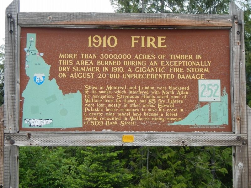 1910 Fire Marker image. Click for full size.