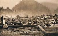 Coeur d'Alene mine after the 1919 Fire image. Click for full size.