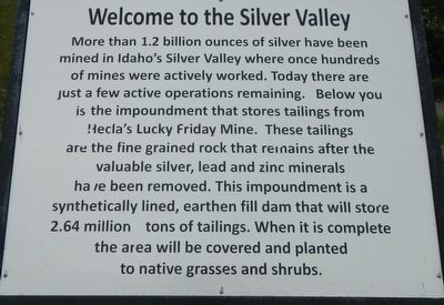 Welcome to Silver Valley Marker image. Click for full size.