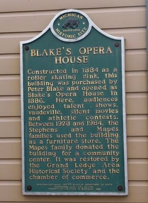 Blake's Opera House Marker image. Click for full size.