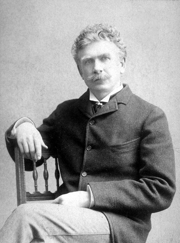 Ambrose Bierce, Journalist and Author image. Click for full size.