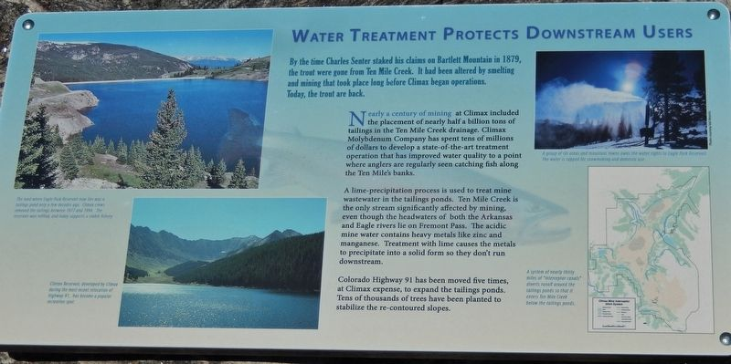 Water Treatment Protects Downstream Users Marker image. Click for full size.