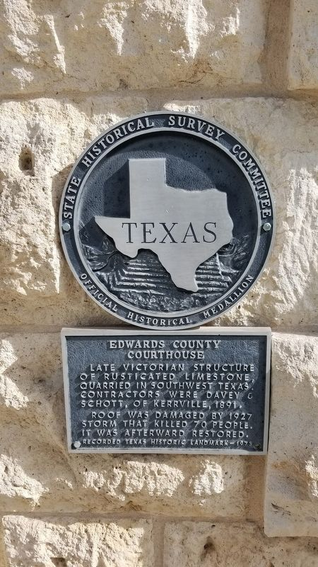 Edwards County Courthouse Marker image. Click for full size.