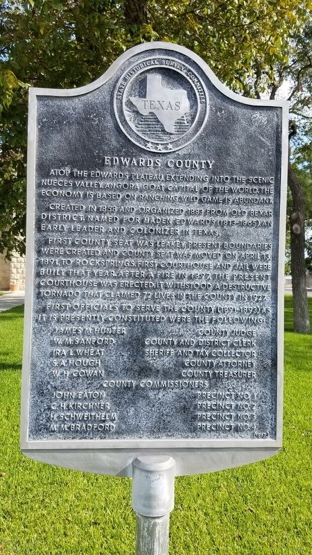 Edwards County Marker image. Click for full size.