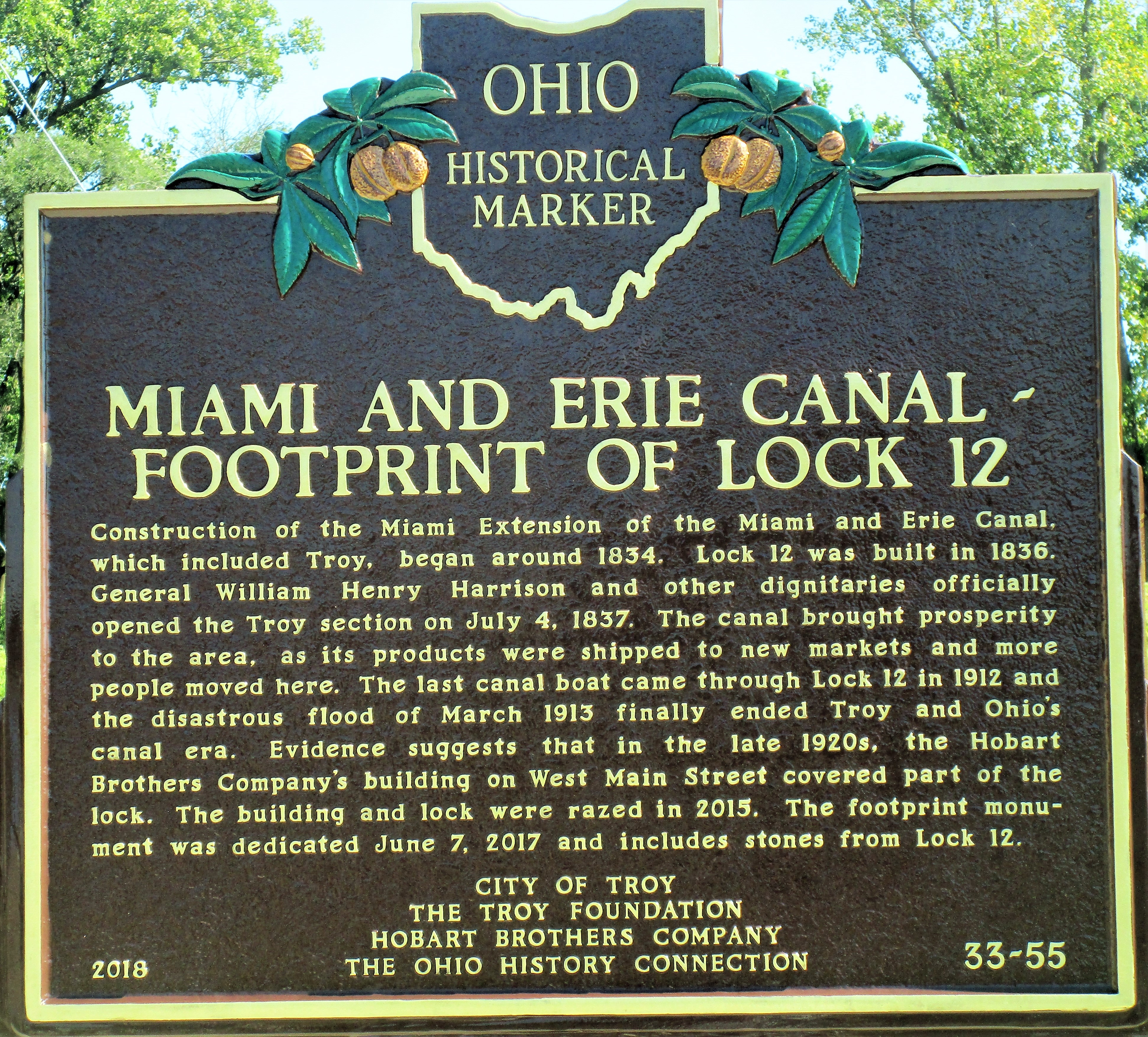 Miami and Erie Canal Marker