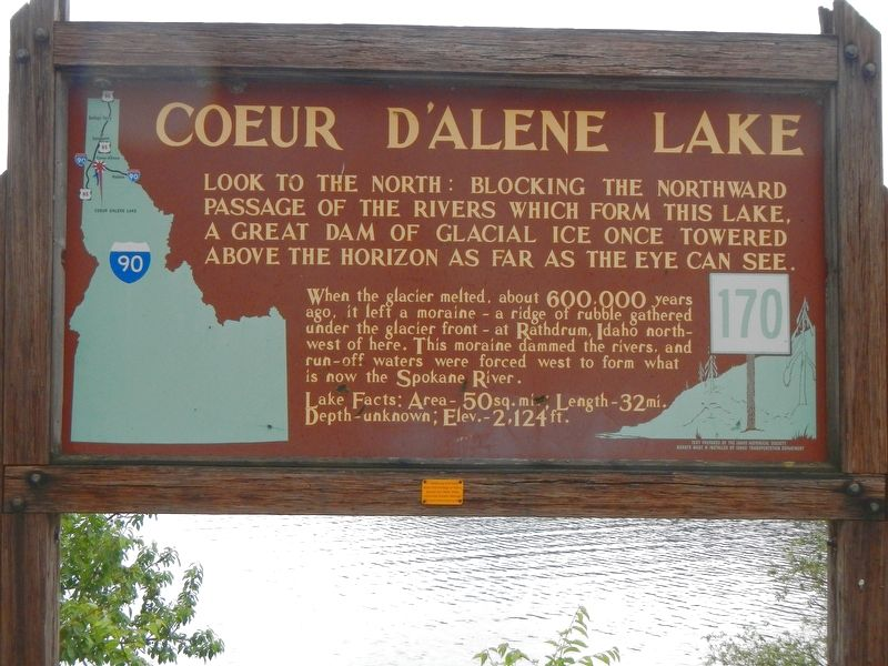 Coeur d'Alene Lake Marker image. Click for full size.