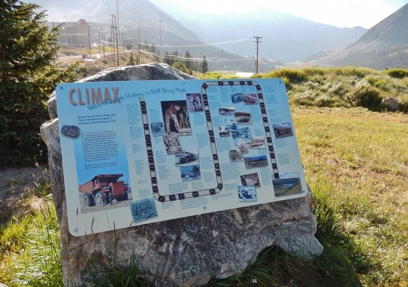 Climax History Marker (<i>wide view</i>) image. Click for full size.