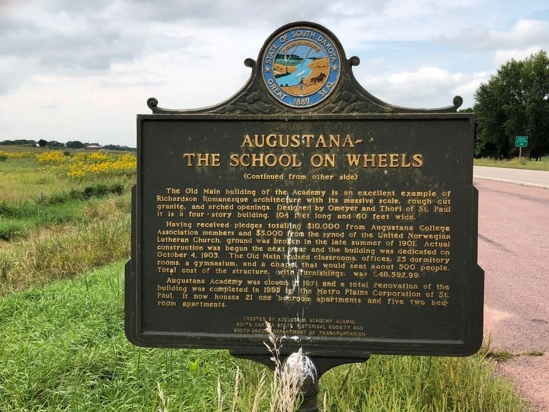 Augustana – The School on Wheels Marker image, Touch for more information
