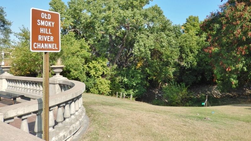 Smoky Hill River Channel Sign (<i>located beside bridge, near marker</i>) image. Click for full size.