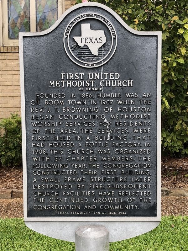 First United Methodist Church of Humble Marker image. Click for full size.