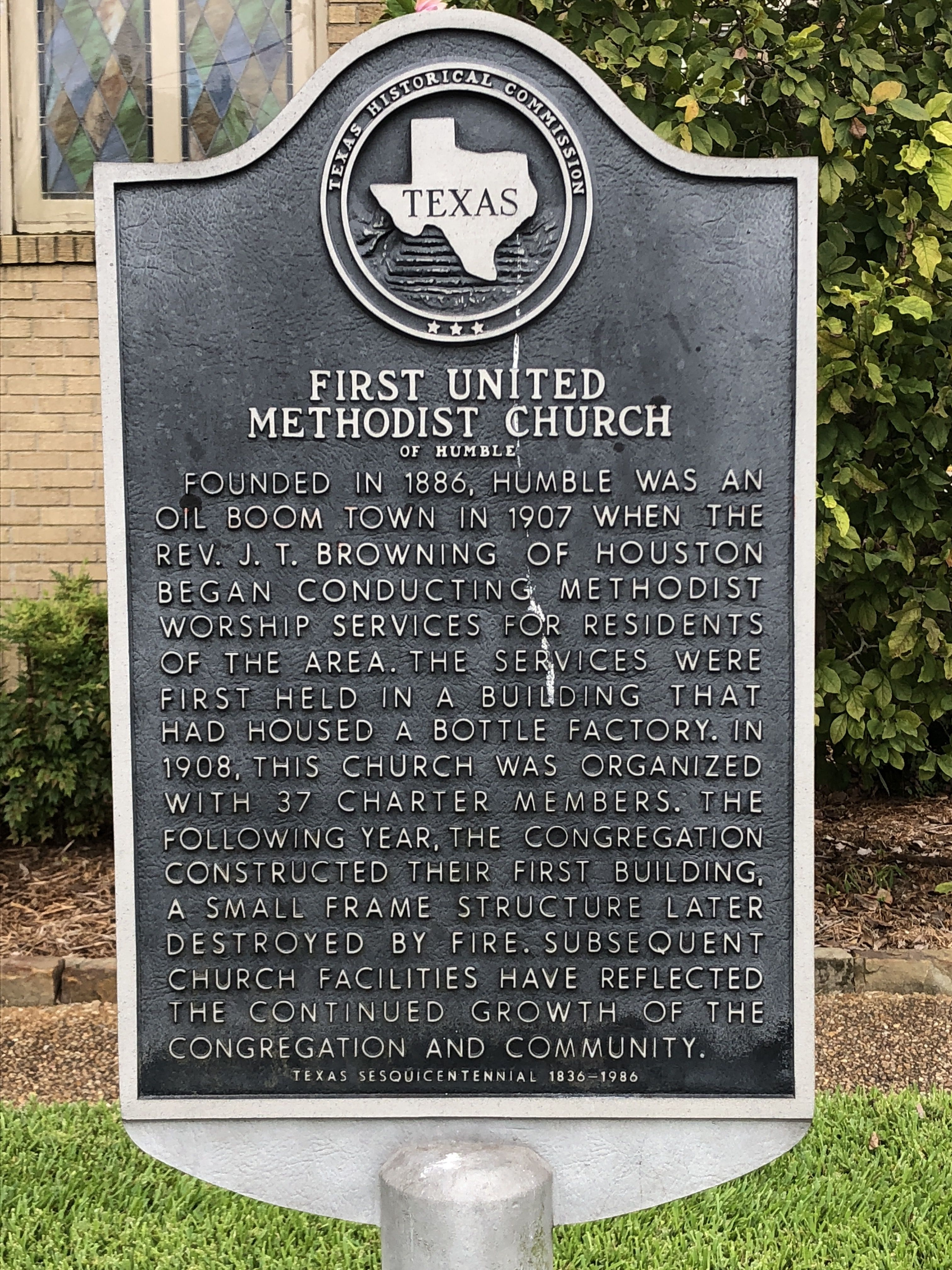 First United Methodist Church of Humble Marker