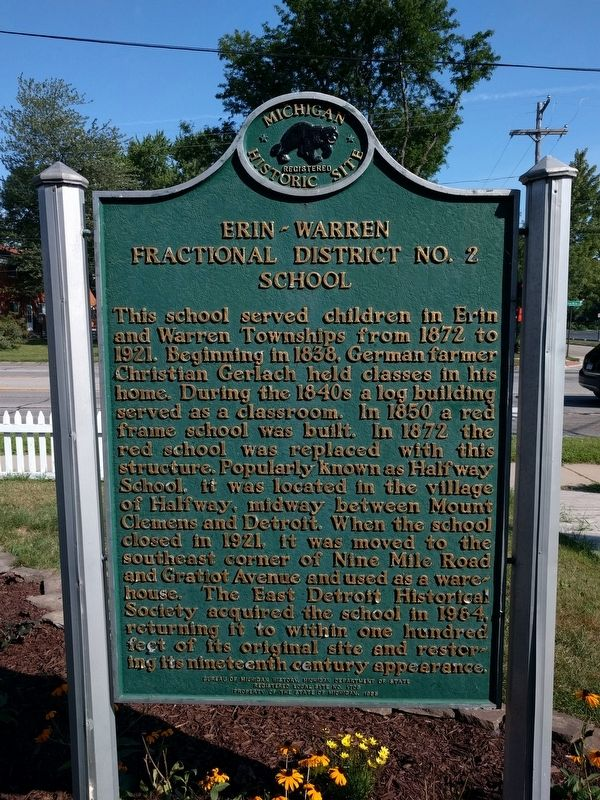 Erin-Warren Fractional District No. 2 School Marker image. Click for full size.