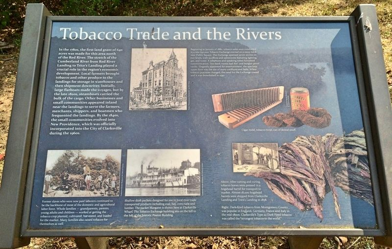 Tobacco Trade and the Rivers Marker image. Click for full size.