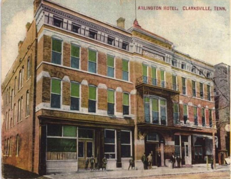 The former Arlington Hotel. image. Click for full size.