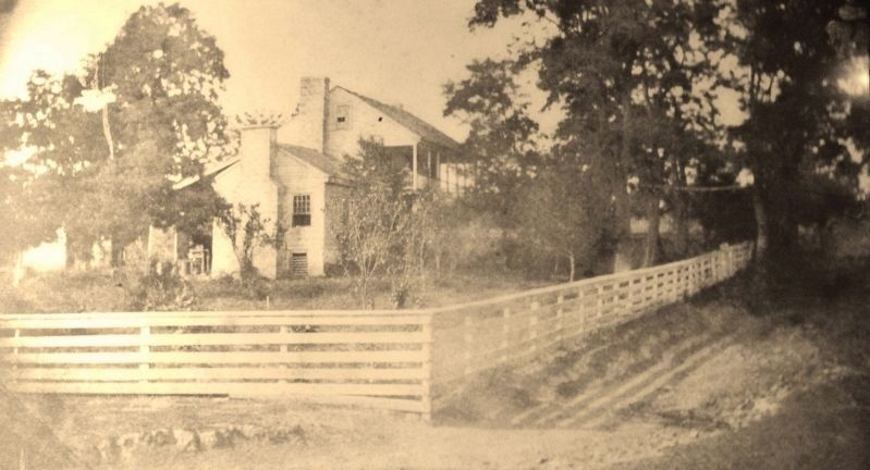 Marker detail: White Haven House (<i>same angle view - from 1800s</i>) image. Click for full size.