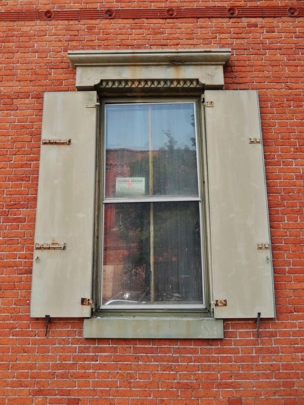 First National Bank (<i>window detail</i>) image. Click for full size.