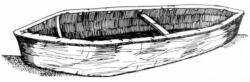 The Punt: The colonist version of the native single log canoe. image. Click for full size.