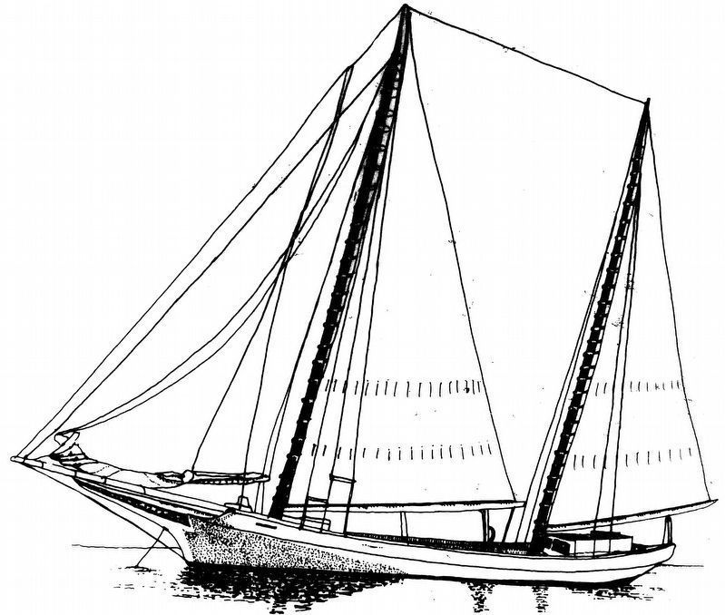 The Bugeye: final stage in the development of the native log canoe. image. Click for full size.