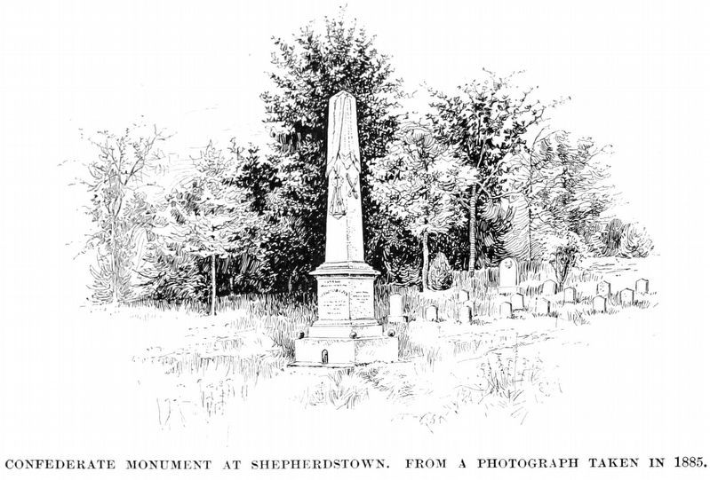 Confederate Monument at Shephardstown<br>from a photograph taken in 1885 image. Click for full size.