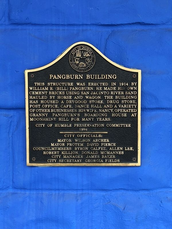 Pangburn Building Marker image. Click for full size.
